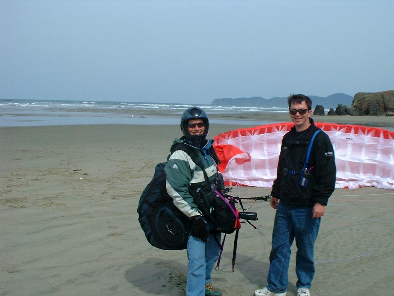 Brad and Maren at Cape Kiwanda 2001