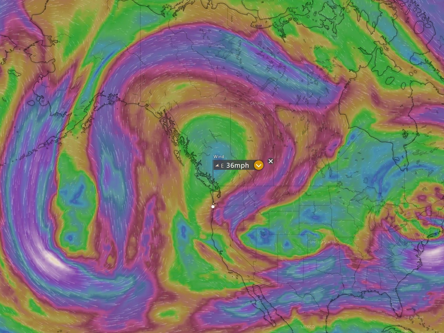 Wind at 18000 on Friday